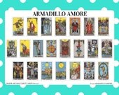 Major Arcana Tarot Card Stickers {22 Fancy Matte or Glossy Planner Stickers} | #17-231