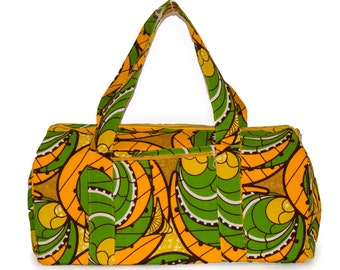 Duffle Bag Fair Trade Yellow & Green Carry On Size Travel Bag