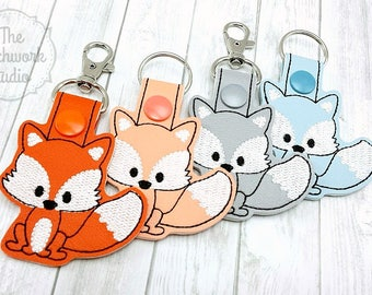 Fox Keychain - Key Fob - Pick Your Color!