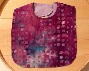 Purple Indian Batik Print Infant Bib