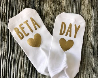 Beta day IVF socks - IVF socks, ivf, infertility socks, infertility , iui socks, lucky socks, ttc socks, iui, TTC, ttc socks, iui socks