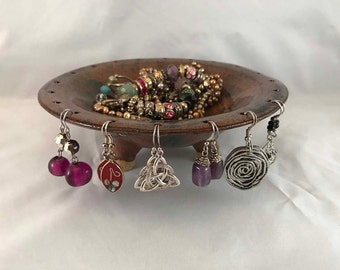 Footed Jewelry Caddy - Stoneware