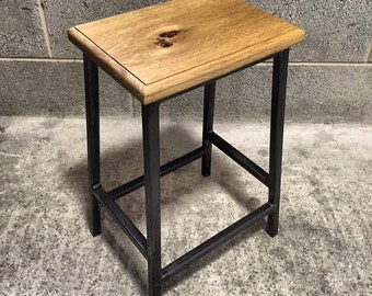 INDUSTRIAL TABLE STOOL - Retro Industrial Table / Breakfast Bar Stool