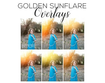 Sunflare Overlays | Photoshop overlays, sunflares, sunflare actions, photoshop actions, sunburst overlays, presets, golden actions