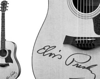 Elvis Presley Handwriting guitar decal