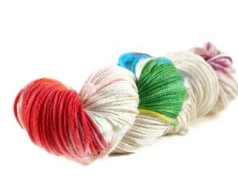 Worsted Yarn, Superwash Merino yarn, worsted weight yarn, wool yarn, 100% Superwash Merino, rainbow yarn, worsted wool - Savannah