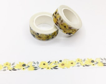 Yellow Floral Washi Tape