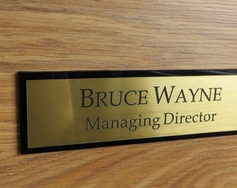 Executive Personalised Door Name Plate Custom Engraved Sign Office Plaque & Door name plate | Etsy pezcame.com
