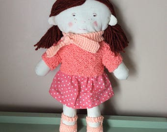 Cute little girl plush doll
