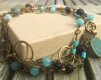 Oriental Azur Chain Necklace