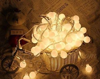 Fairy Lights,Bulb Fairy Lights,Wedding Lights,Decor Lights,Backdrop Lights,Warm White Bulbs,White Bulbs,Battery operated,6 metres,40 bulbs