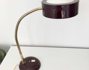 Lamp red garnet Jumo 52cm vintage 1970