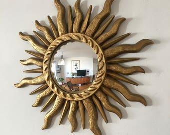 Mirror Sun witch 42cm vintage 1960's eye