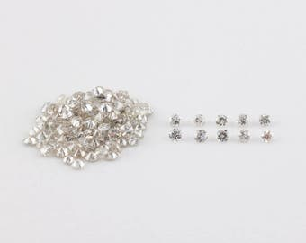 1.5mm, Brilliant Round Diamonds, Very Light Champagne, I1 - I2, Post Consumer and Conflict Free
