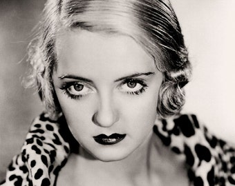Bette Davis Film Actress Glossy Hollywood Black & White Photo Picture Print A4