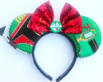 Bounty Hunter Mouse Ears - Space Mouse Ears - Dark Side Mouse Ears