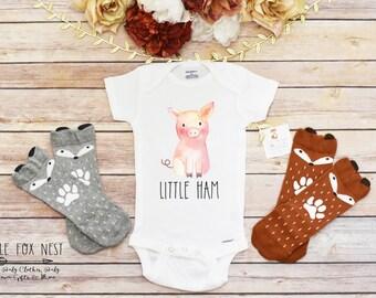 Funny Onesie®, Baby Gift, Pig Onesie®, Baby Onesie®, Pig Shirt, Cute Pig Onesie®, Baby Girl Clothes, Little Ham