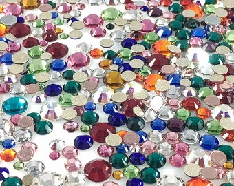 Charm Central Swarovski Crystal Rhinestone Mixed Sizes and Colors - (100pcs, 250pcs, or 500pcs)
