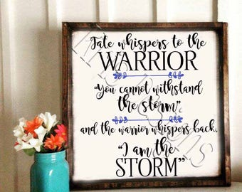 Fate whispers to the Warrior -storm SVG PNG JPG