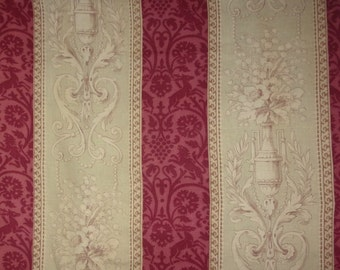 a beautiful antique 19th century patterns and refined color fabric