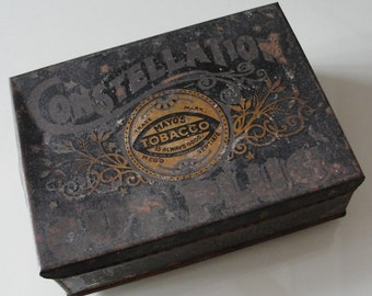 Antique Constellation Cut Plug Tobacco Tin Vintage Rare Mayo's Collectible Advertising Packaging Tobacco Box