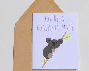 Koala-ty Mate Card