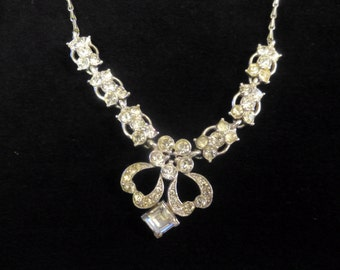 Vintage Bogoff Rhinestone Necklace