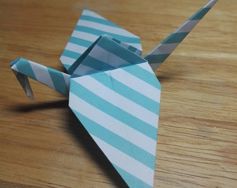 20 Origami Crane Wedding Favors / Baby Boy B2/12