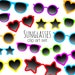 Sunglasses Clip Art Pictures, Colourful Glasses Clipart, Summer Digital Stickers, Holiday Designs