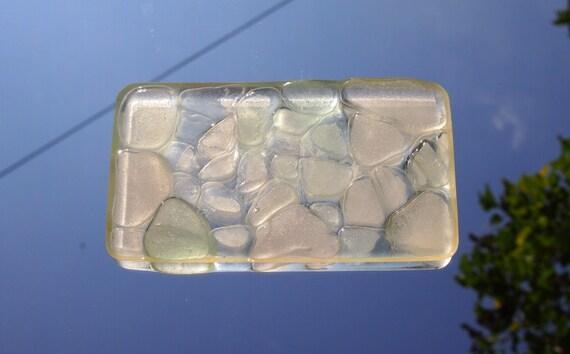 Plate white Seaglass