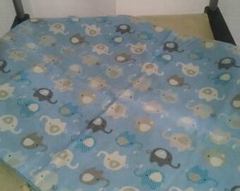 Sweet baby boy burp cloth, security blanket, nursing blanket