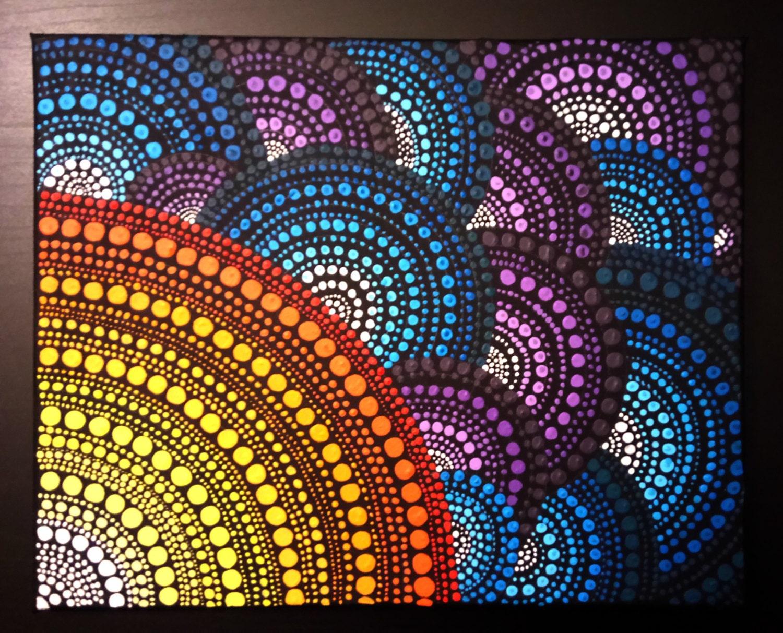 Original Mandala Dot Painting Hand Made By Anna Kep Wall Art