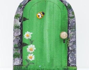 Fairy Door, Green Fairy Door, Magical Door, Secret Door, Enchanted Forest Door, Elf Door, Minature Door