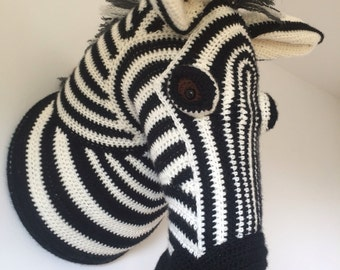 Zebra trophy head