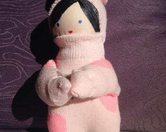Miss Preppy sock doll