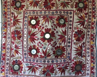 Vintage Indian wall Tapestry hand embroidered