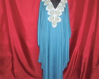 Blue SUMMER cotton Caftan macramé SALT (from 62.00 to 49.60)