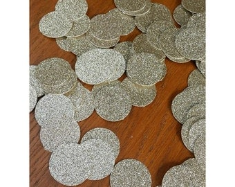Glitter confetti wedding party table scatters