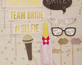 Wedding Photo Booth Props | Wedding Photo Props | Hen Party Photo Props