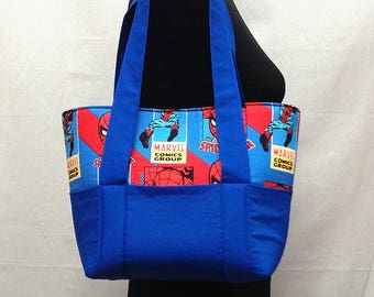 Spiderman Diaper Tote Bag, Diaper Bag, Baby Shower Gift, Boy Diaper Bag, Diaper Bag, Baby Diaper Bag, Small Diaper Bag, Baby Gift, Spiderman