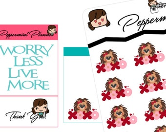 Hugs and Kisses Hedgehog planner stickers {#184}