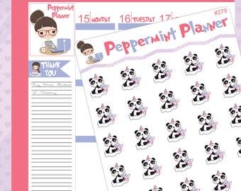 Sassy AF Panda planner stickers #279