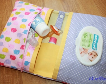 Nappy Wallet (purple, pink,elephant, yellow)