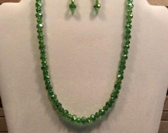 18' Swarovski Crystal Erinite AB Necklace and FREE Earrings