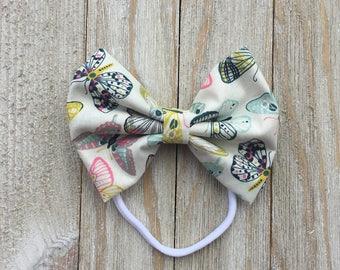 Butterfly bow| baby girl headband | newborn headband | headband | baby bow | newborn bow | bow | baby shower gift | accessories