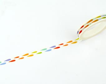 Rainbow Drops Washi Tape 8mm