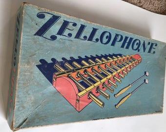 1940s Zellophone Toy Xylophone