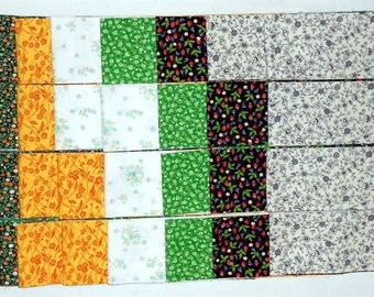 "Jelly Roll -40ct. Precut 2.5"" strips/tiny floral/flowers/vines/calico/white/yellow/green/black/red/orange/black/blue (#JR11)"