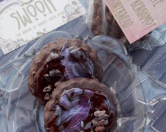 Chocolate Lavender Bergamot Shortbread Cookie with Ganache Gift  Box ~  Earl Grey Shortbread ~ Chocolate Cookies