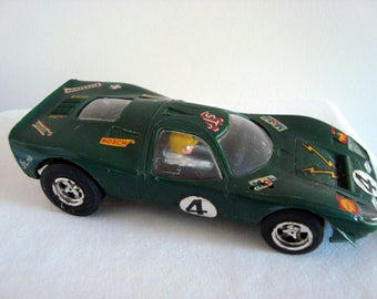 Vintage 1970s Scalextric Model C15 Green Ford Mirage Slot Car
